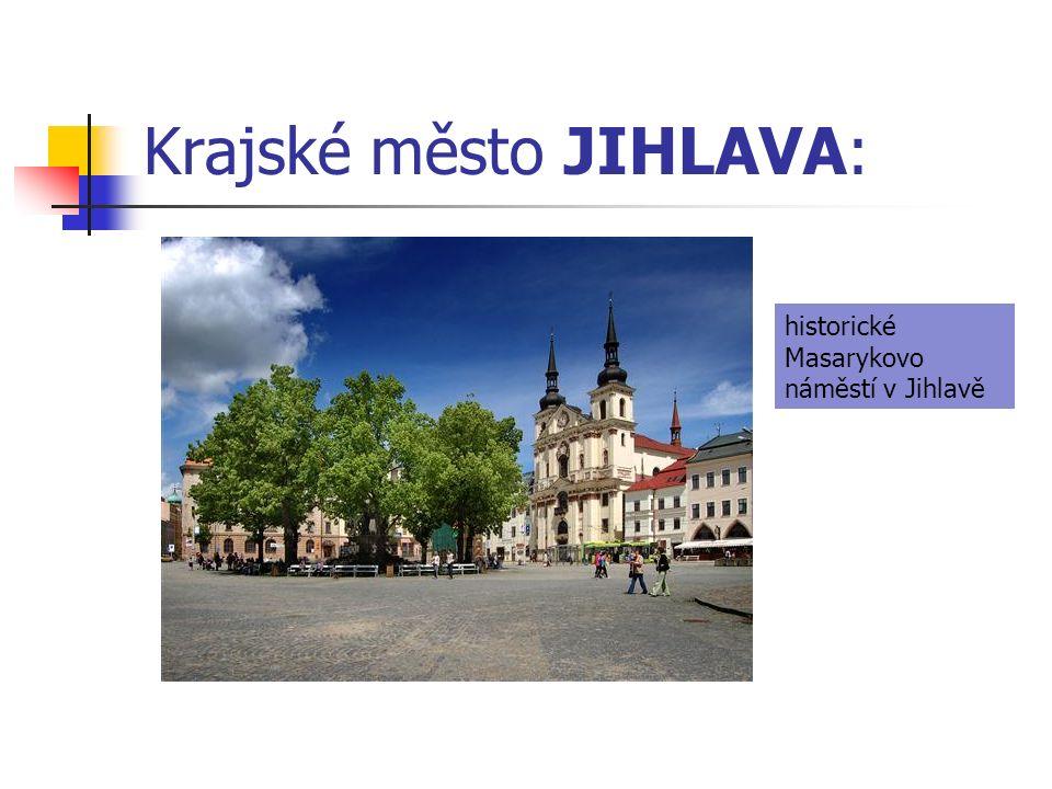 Krajské město JIHLAVA: historické Masarykovo náměstí v Jihlavě