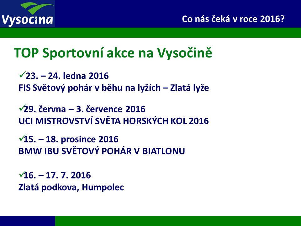 27.9.2016 19 Co nás čeká v roce 2016? 23. – 24. ledna 2016 FIS Světový pohár v běhu na lyžích – Zlatá lyže 29. června – 3. července 2016 UCI MISTROVST