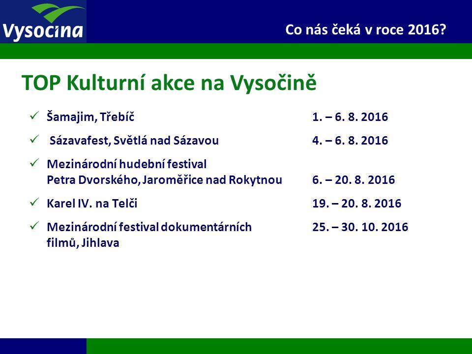 Šamajim, Třebíč1. – 6. 8. 2016 Sázavafest, Světlá nad Sázavou 4. – 6. 8. 2016 Mezinárodní hudební festival Petra Dvorského, Jaroměřice nad Rokytnou6.