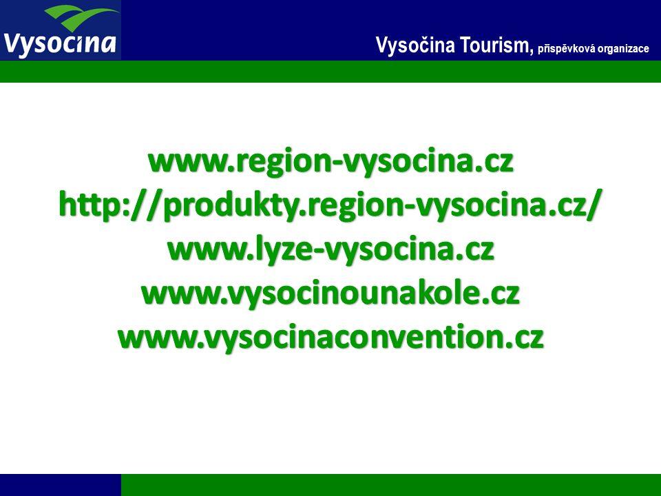 27.9.2016 25 Vysočina Tourism, příspěvková organizace