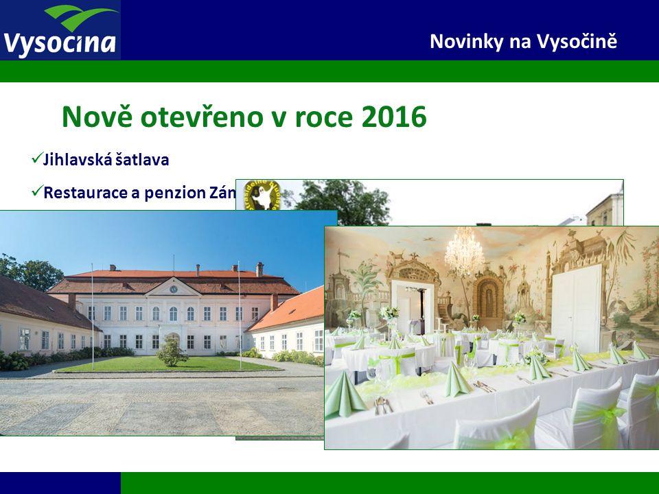 27.9.2016 5 Novinky na Vysočině Nově otevřeno v roce 2016 Jihlavská šatlava Restaurace a penzion Zámek Dukovany