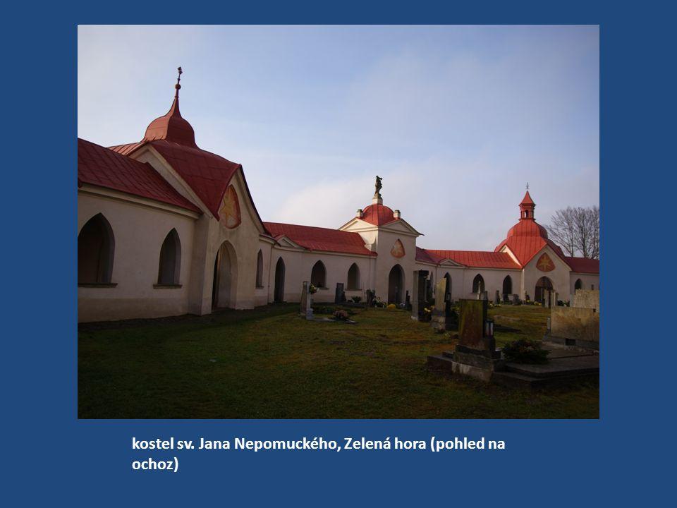 kostel sv. Jana Nepomuckého, Zelená hora (pohled do interiéru ochozu)