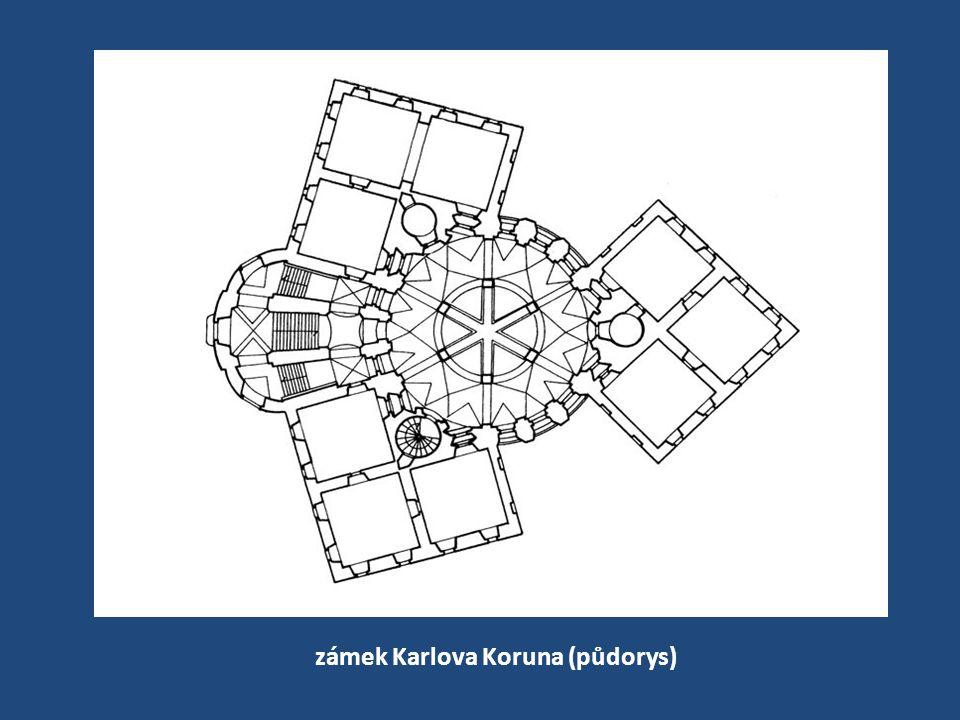 zámek Karlova Koruna (půdorys)