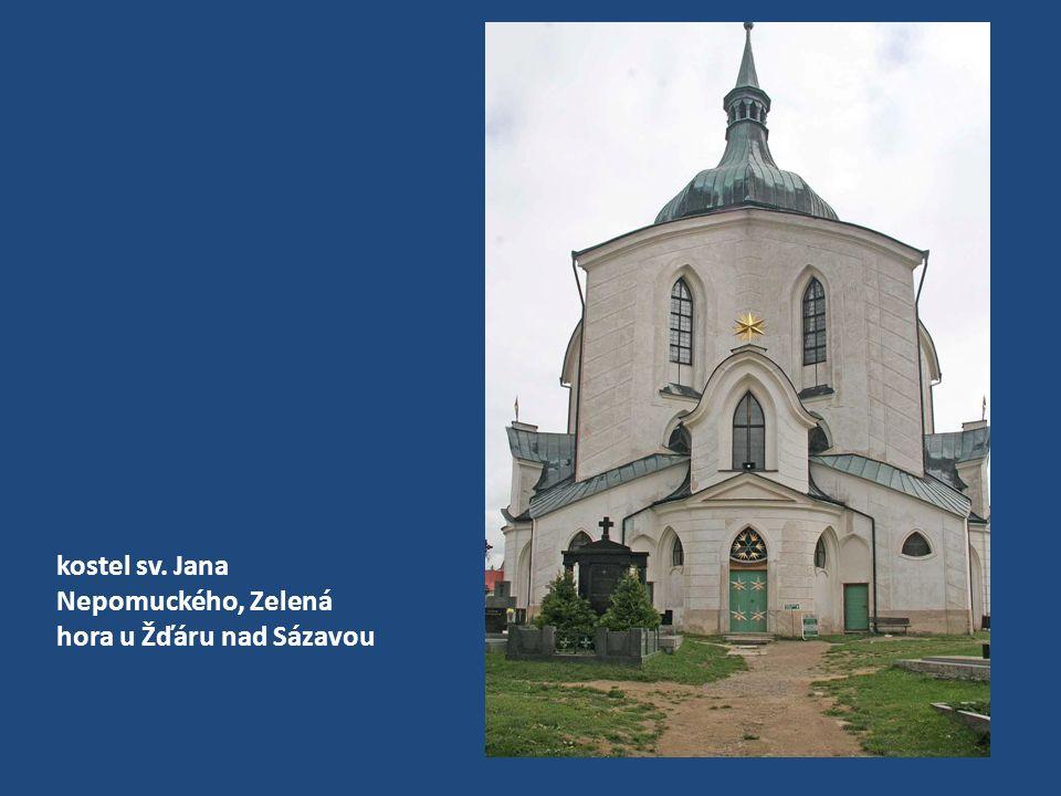 kostel sv. Jana Nepomuckého, Zelená hora (pohled do kupole)