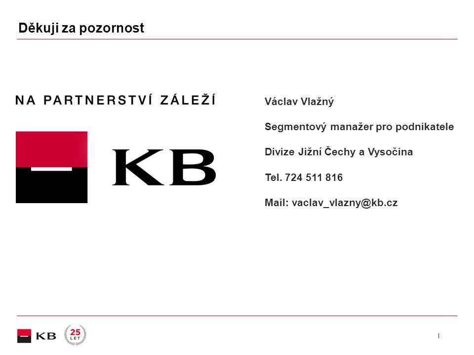 | Václav Vlažný Segmentový manažer pro podnikatele Divize Jižní Čechy a Vysočina Tel.