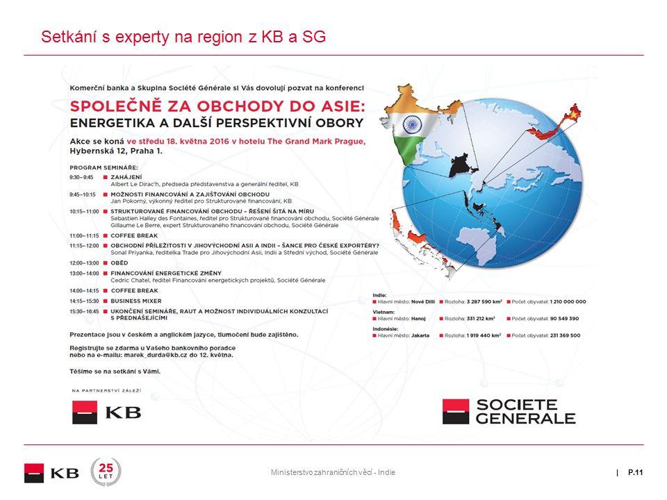 | Setkání s experty na region z KB a SG P.11Ministerstvo zahraničních věcí - Indie