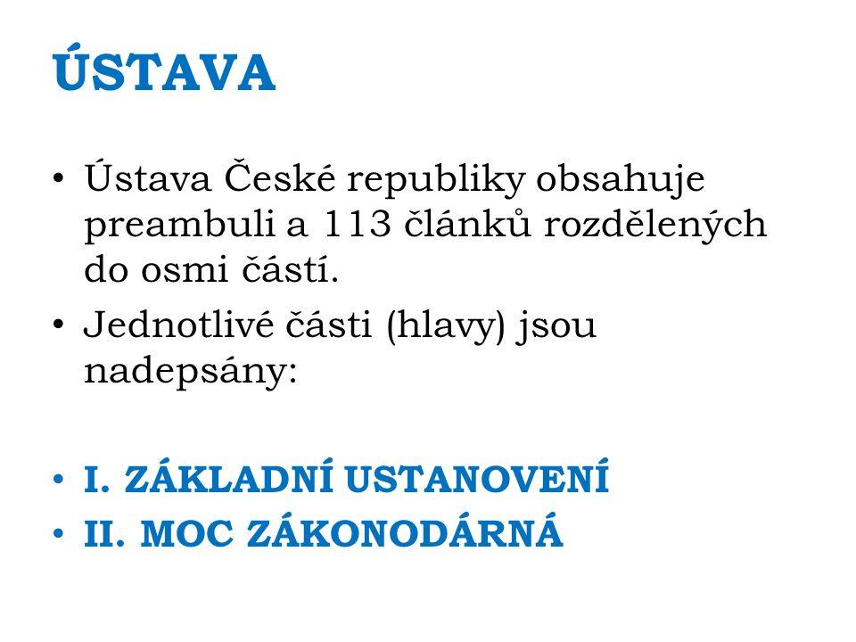 MOC SOUDNÍ HLAVA IV 1.Soudní moc vykonávají jménem republiky nezávislé soudy 2.