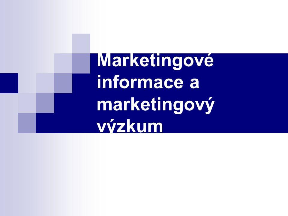 Marketingové informace a marketingový výzkum
