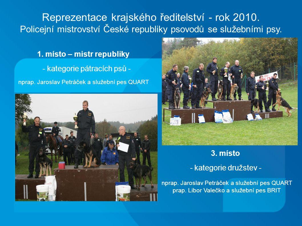 Reprezentace krajského ředitelství - rok 2010.