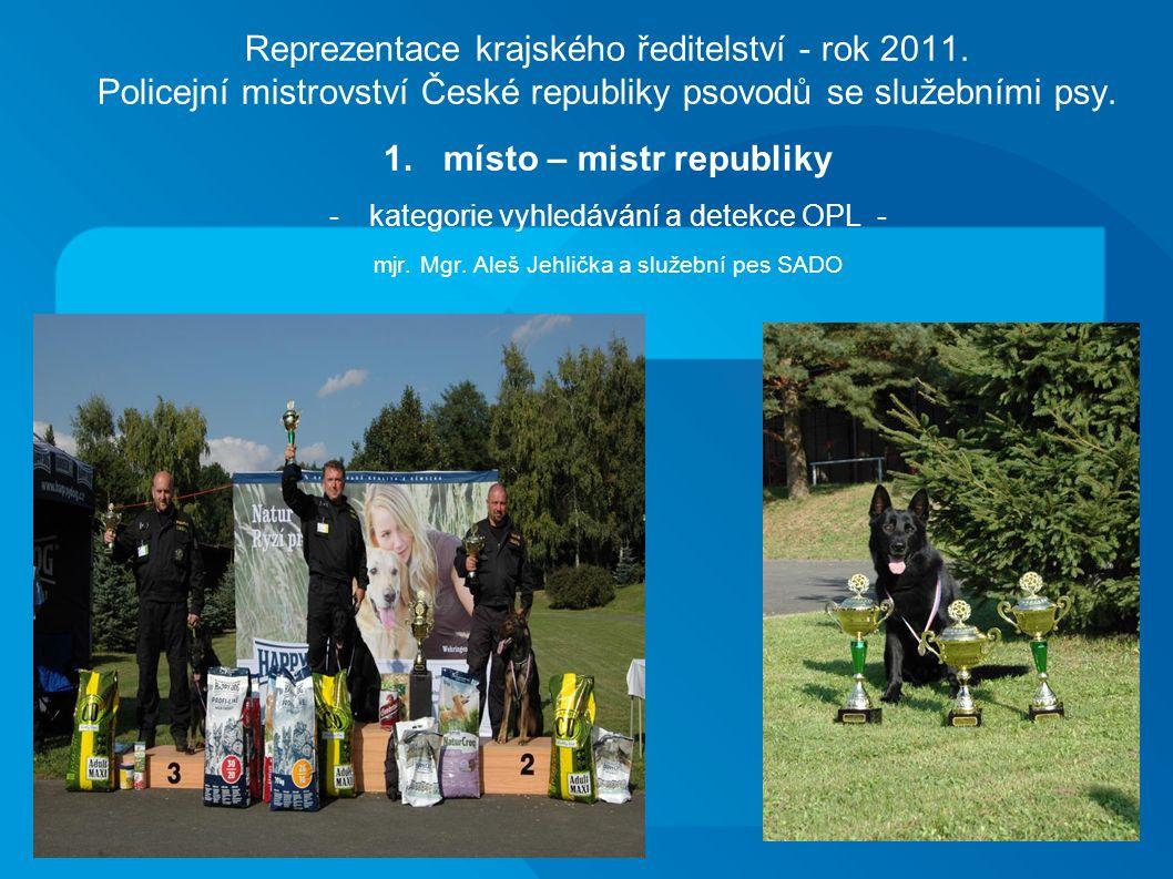 Reprezentace krajského ředitelství - rok 2011.