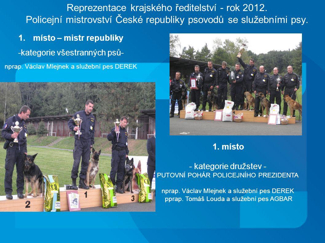 Reprezentace krajského ředitelství - rok 2012.