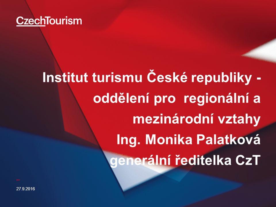 _ Institut turismu České republiky - oddělení pro regionální a mezinárodní vztahy Ing.