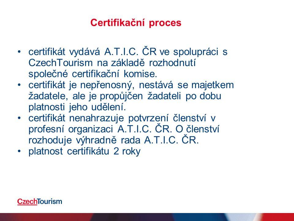Certifikační proces certifikát vydává A.T.I.C.