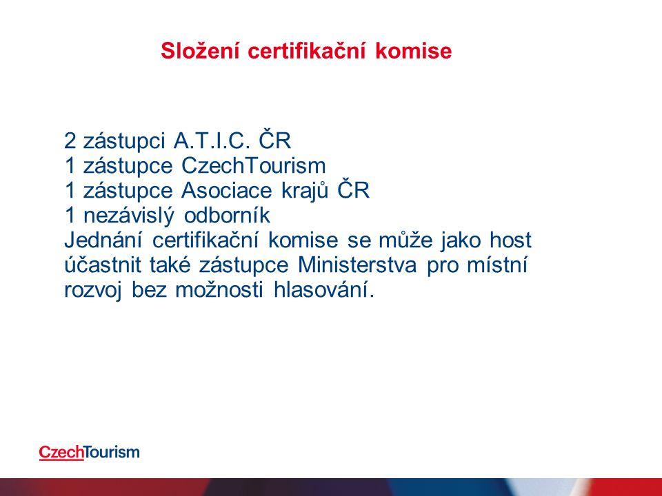 Složení certifikační komise 2 zástupci A.T.I.C.