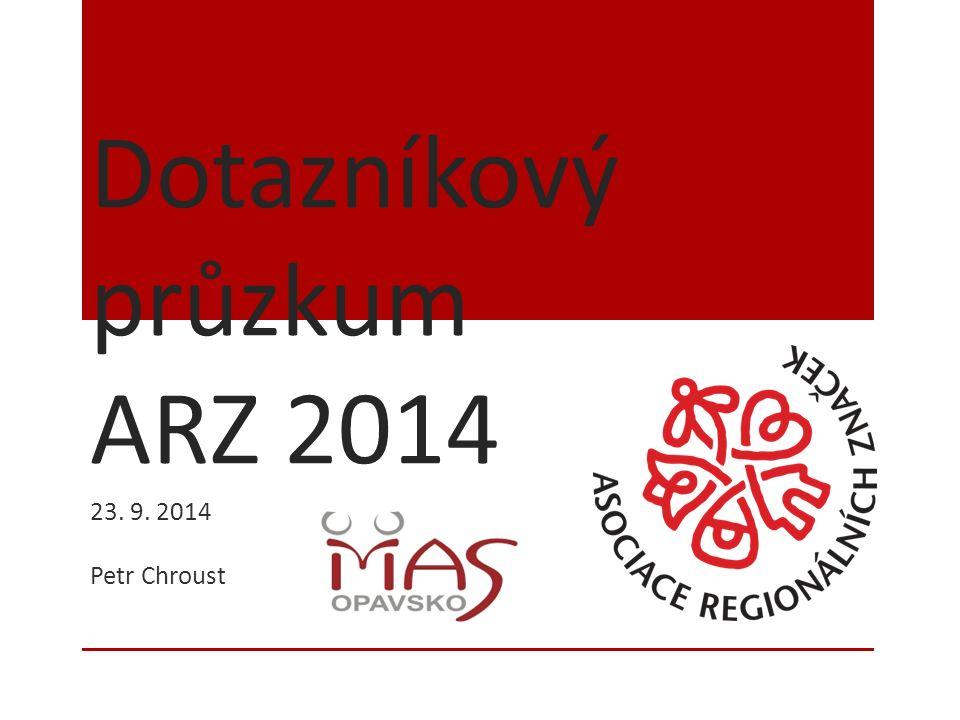 Dotazníkový průzkum ARZ 2014 23. 9. 2014 Petr Chroust