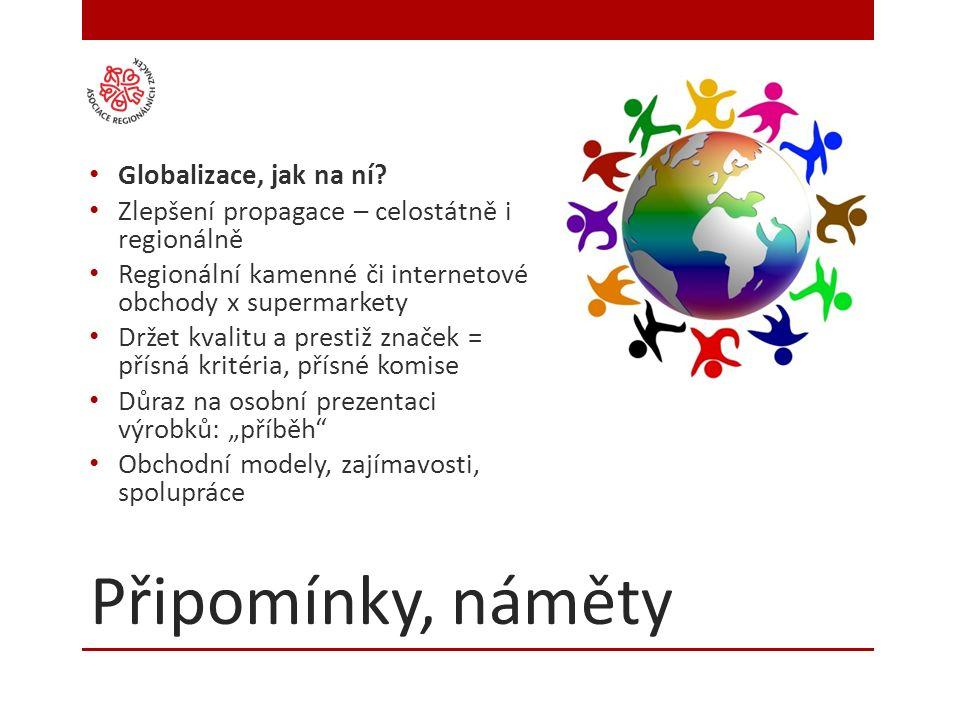 Připomínky, náměty Globalizace, jak na ní.