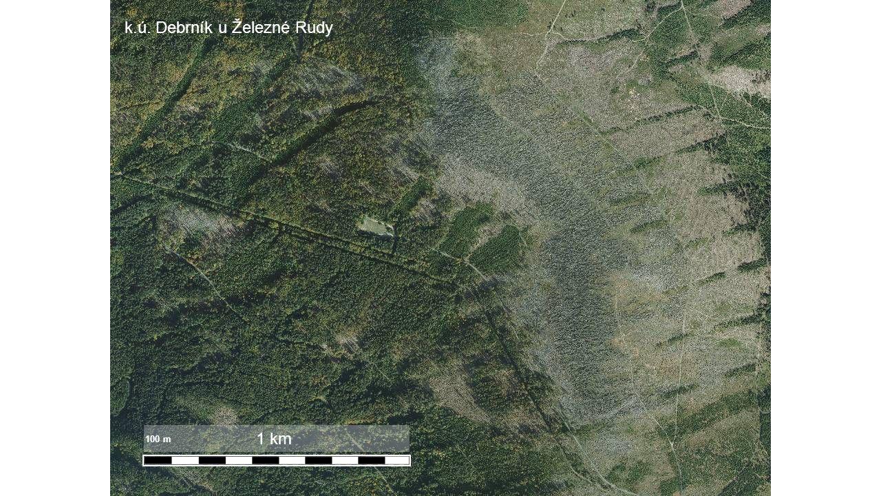 1 km 100 m k.ú. Debrník u Železné Rudy