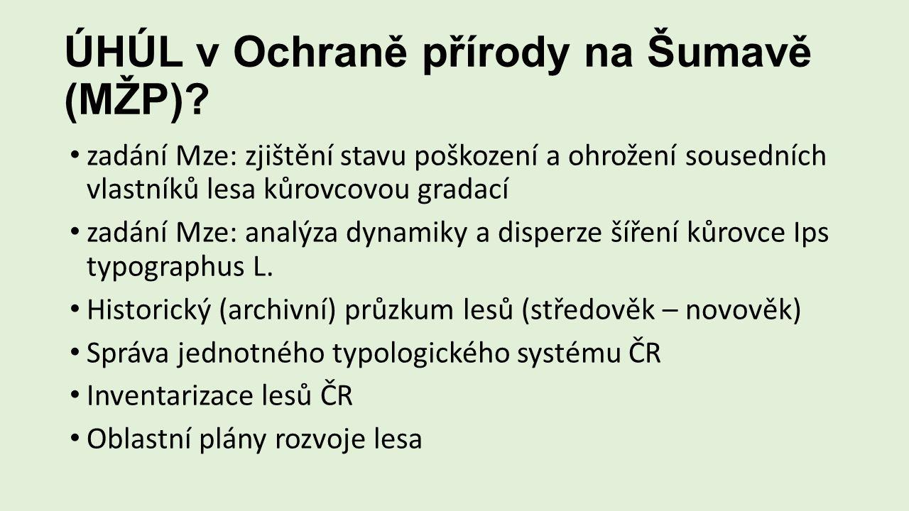 ÚHÚL v Ochraně přírody na Šumavě (MŽP).