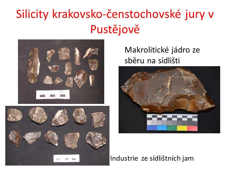 Silicity krakovsko-čenstochovské jury v Pustějově Makrolitické jádro ze sběru na sídlišti Industrie ze sídlištních jam