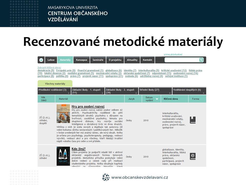 Recenzované metodické materiály