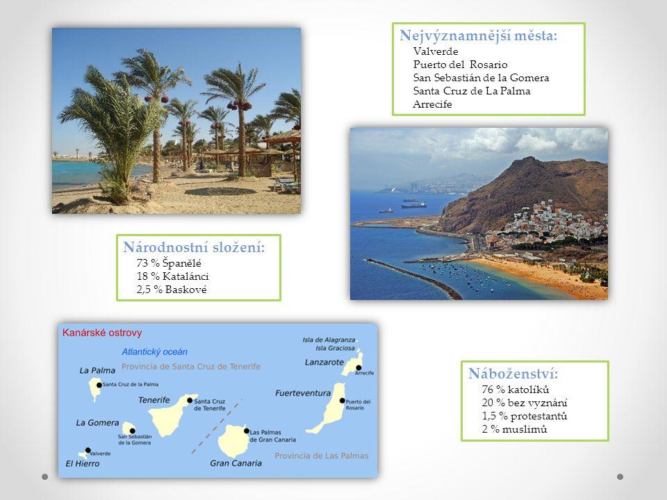 """""""Ostrovy věčného jara , jak také bývají nazývány Kanárské ostrovy, leží v subtropickém pásu Atlantiku."""