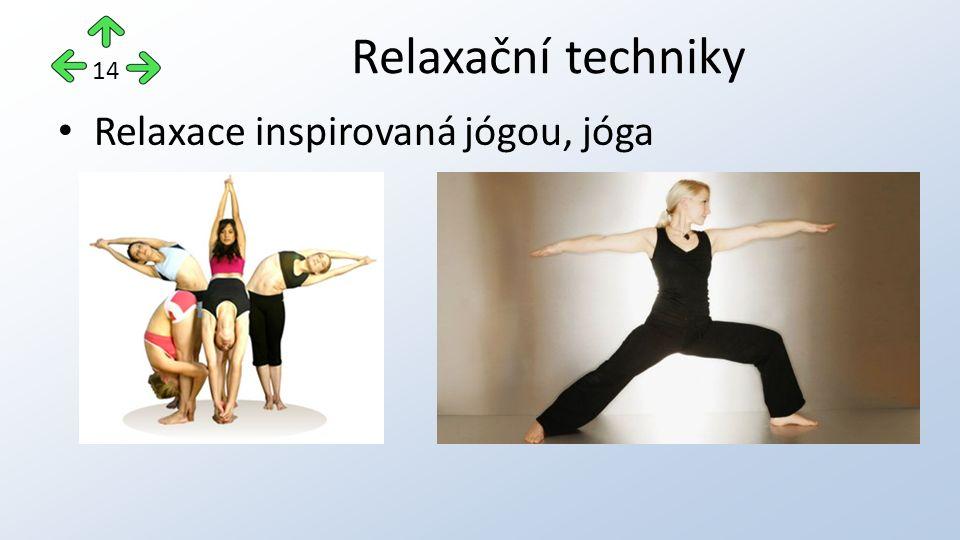 Relaxace inspirovaná jógou, jóga Relaxační techniky 14