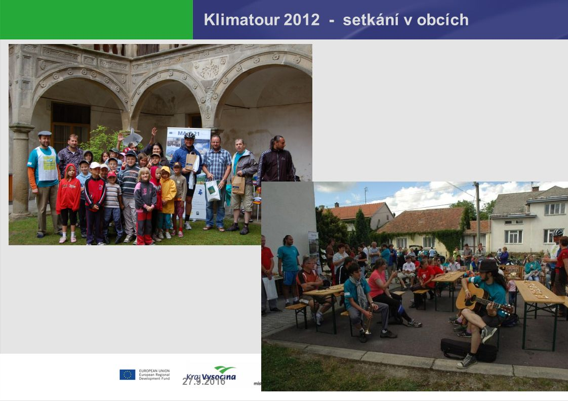 Klimatour 2012 - setkání v obcích 27.9.2016