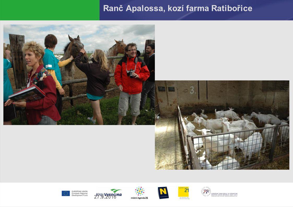 Ranč Apalossa, kozí farma Ratibořice 27.9.2016