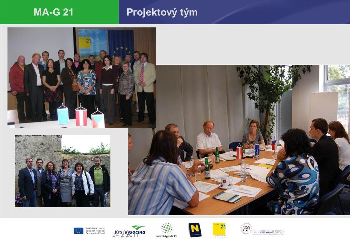 """24.2.2011 MA-G 21 Aktivity projektu  Semináře a konference  Akce zaměřené na veřejnost  Klimatour  Přeshraniční cena (Skutek roku)  Publikace """"Příklady dobré praxe  Sociologický průzkum"""