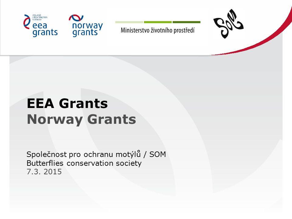 EEA Grants Norway Grants Společnost pro ochranu motýlů / SOM Butterflies conservation society 7.3.