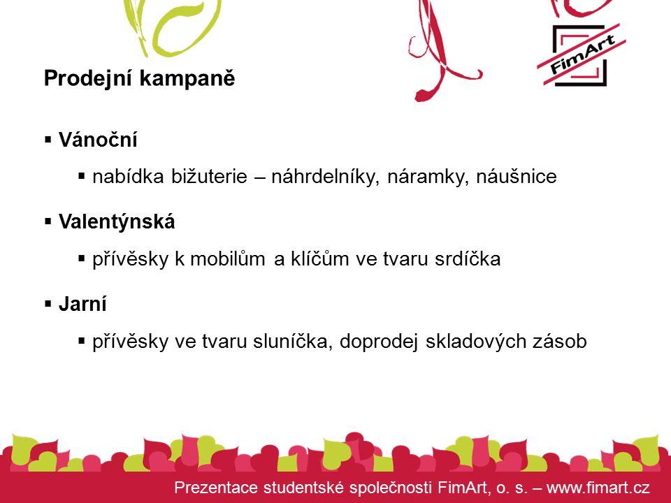 Prezentace studentské společnosti FimArt, o. s.