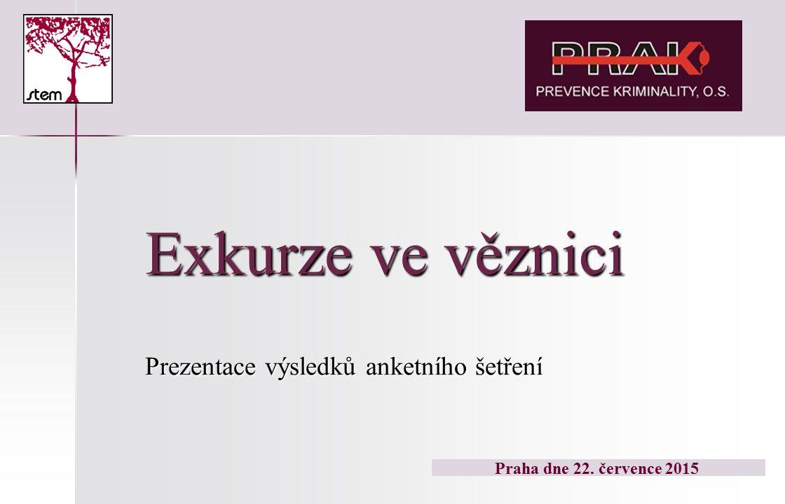 Exkurze ve věznici Prezentace výsledků anketního šetření Praha dne 22. července 2015
