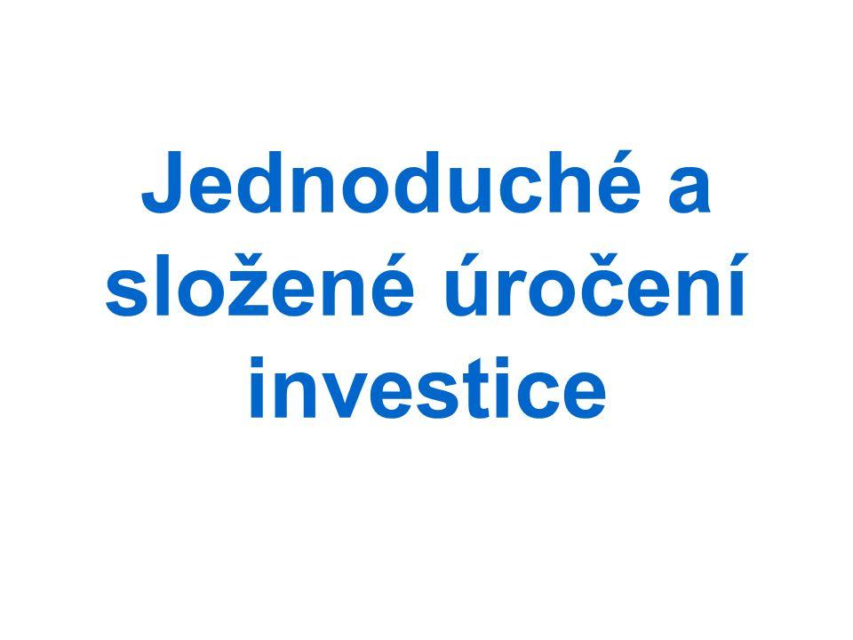 Jednoduché a složené úročení investice