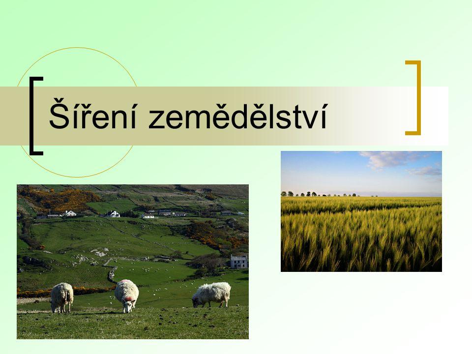 Šíření zemědělství
