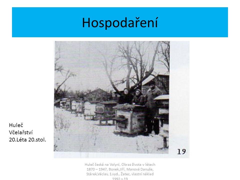 Hospodaření Huleč Včelařství 20.Léta 20.stol.