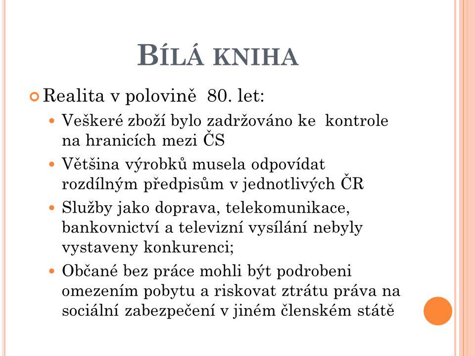 B ÍLÁ KNIHA Realita v polovině 80.