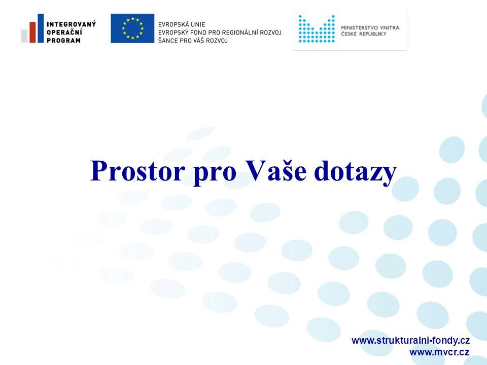 www.strukturalni-fondy.cz www.mvcr.cz Prostor pro Vaše dotazy