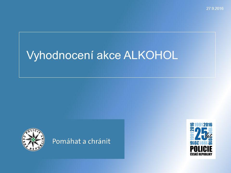 27.9.2016 Vyhodnocení akce ALKOHOL