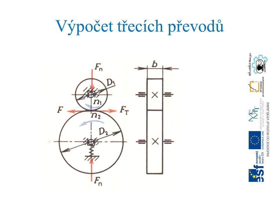 Výpočet třecích převodů