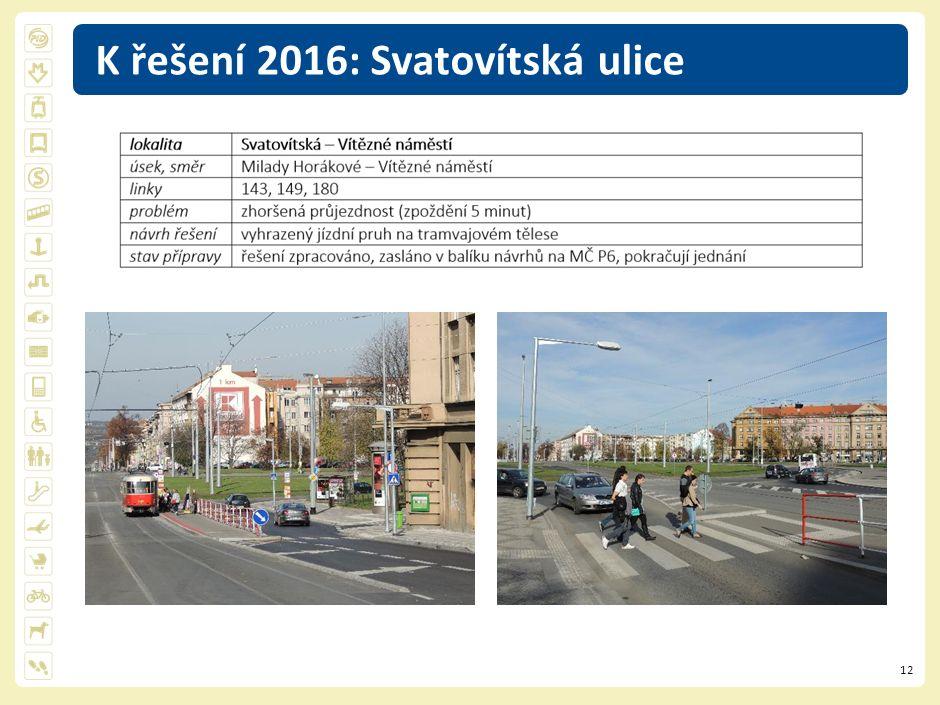 12 K řešení 2016: Svatovítská ulice