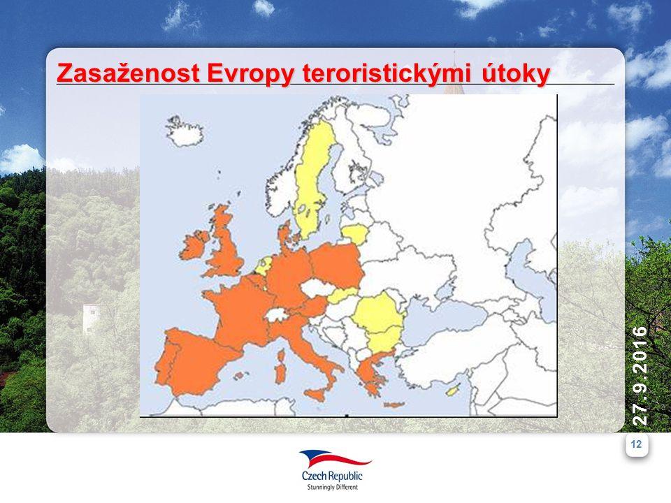 12 27.9.2016 Zasaženost Evropy teroristickými útoky
