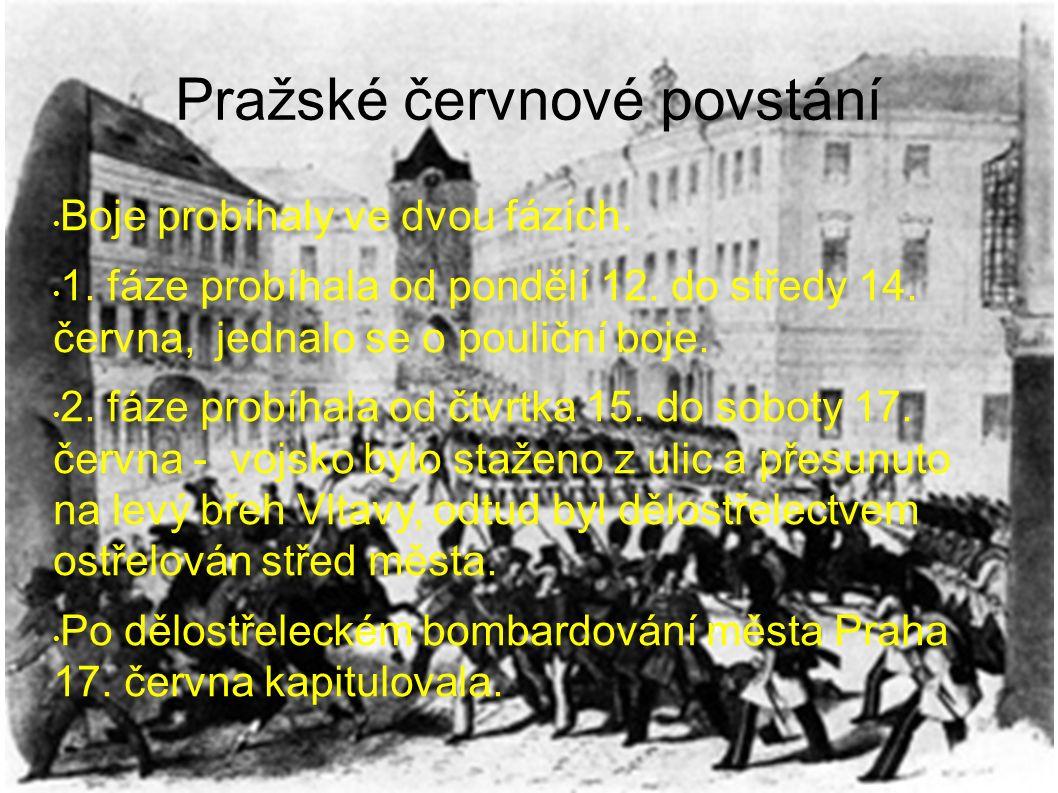 Pražské červnové povstání Boje probíhaly ve dvou fázích.