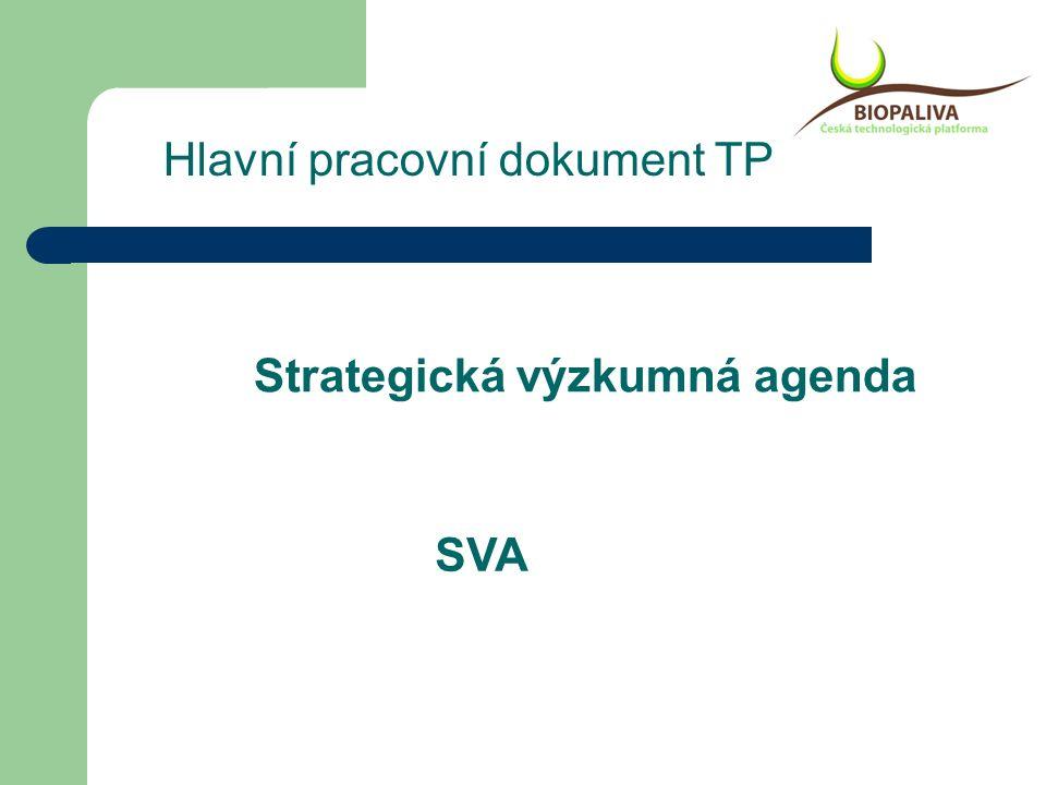 Strategická výzkumná agenda SVA Hlavní pracovní dokument TP