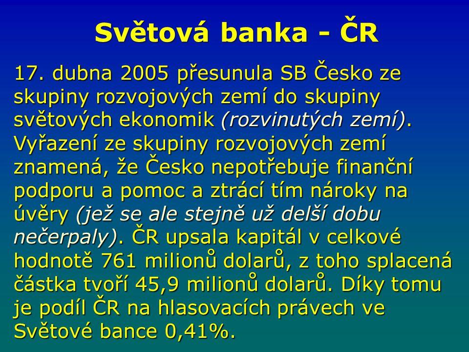 Světová banka - ČR 17.