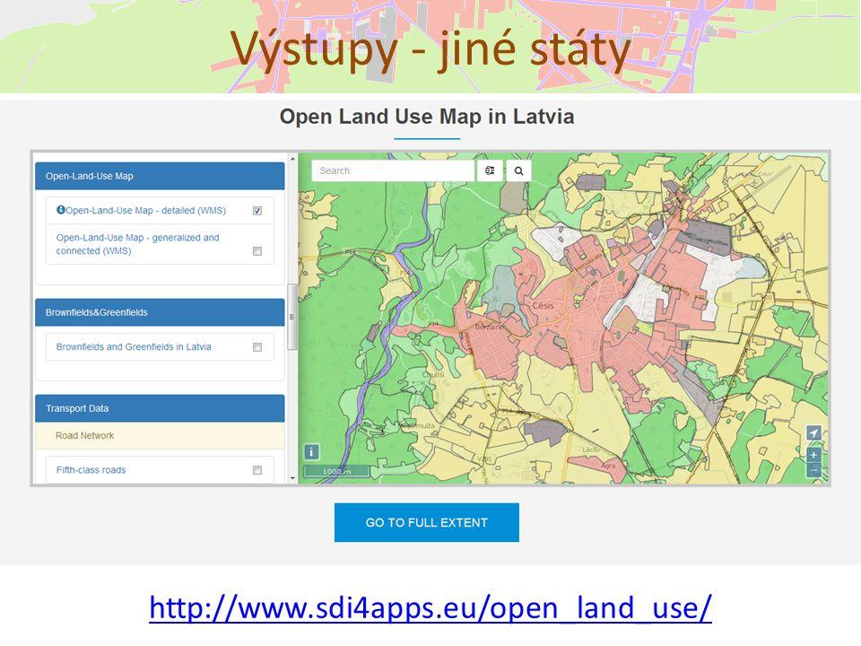 Výstupy - jiné státy http://www.sdi4apps.eu/open_land_use/
