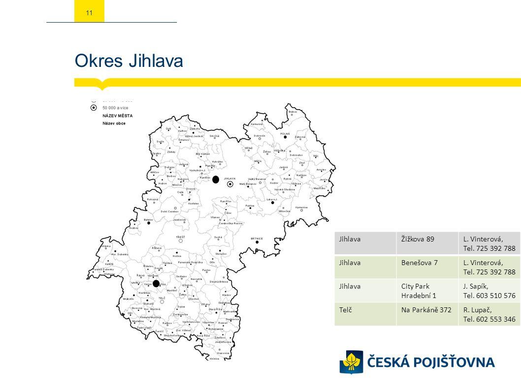 Okres Jihlava 11 JihlavaŽižkova 89L. Vinterová, Tel.
