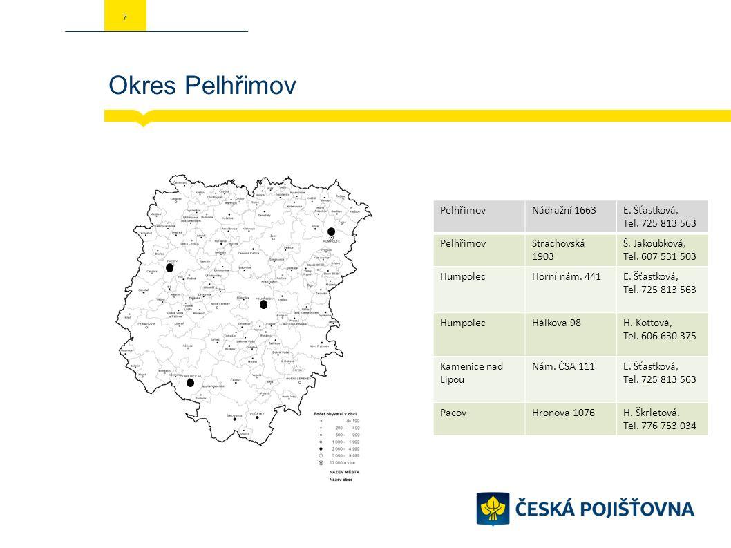 Okres Pelhřimov 7 PelhřimovNádražní 1663E. Šťastková, Tel.