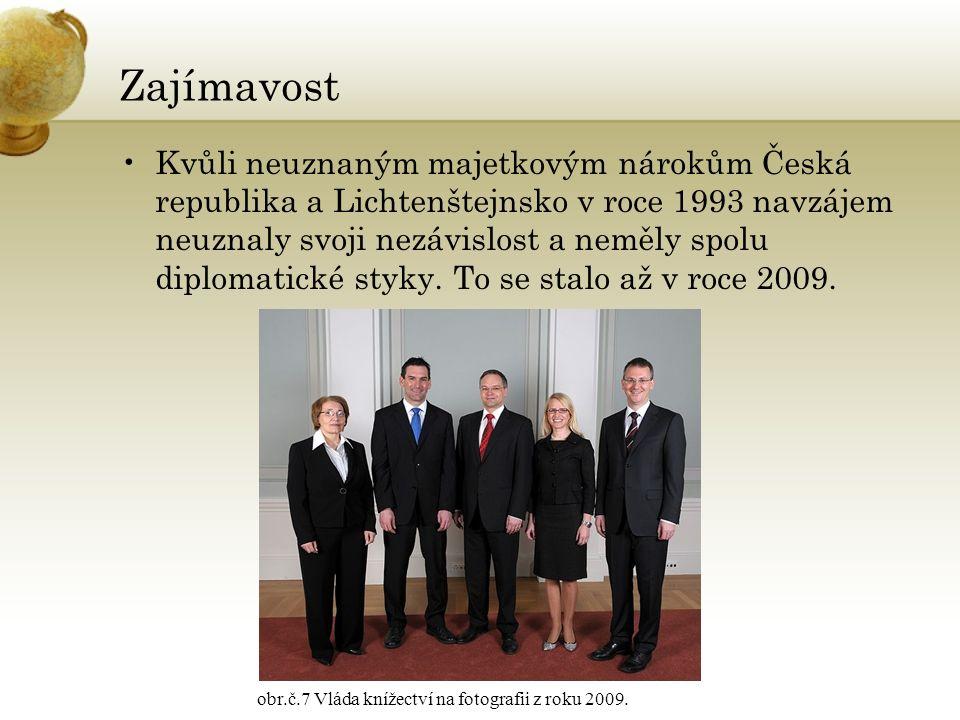 Zajímavost Kvůli neuznaným majetkovým nárokům Česká republika a Lichtenštejnsko v roce 1993 navzájem neuznaly svoji nezávislost a neměly spolu diploma