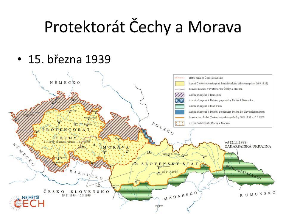 Protektorát Čechy a Morava 15. března 1939