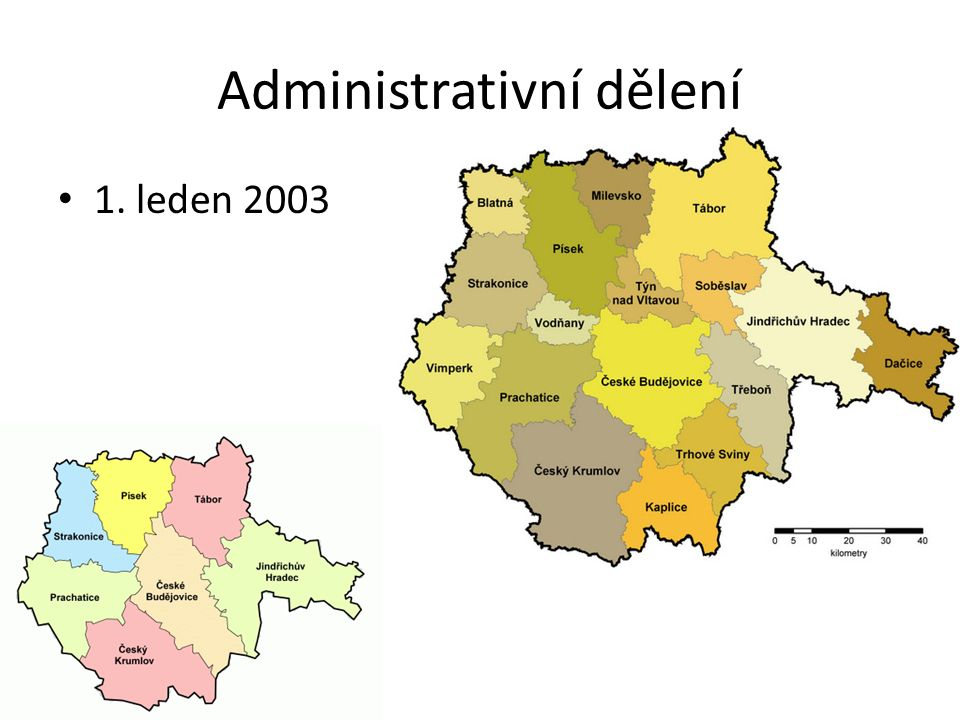 Administrativní dělení 1. leden 2003